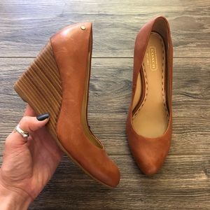 Coach Brown Loise Wedge Heel